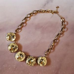 Stunning gold/clear stone statement necklace